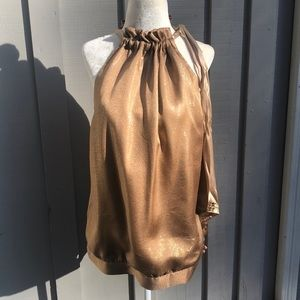 Glamorous Gold Sleeveless Top By Hale Bob